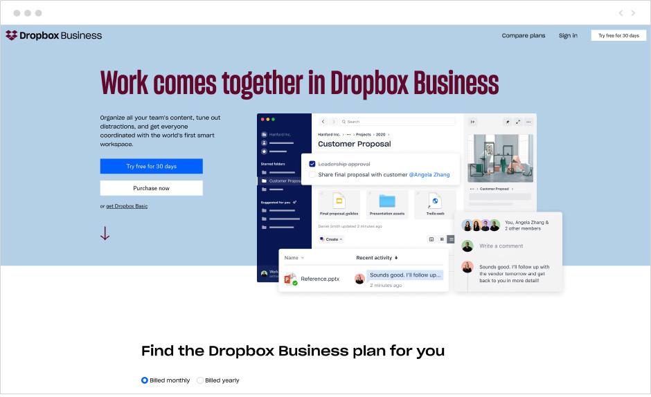 9 лучших бесплатных хостингов изображений: Dropbox