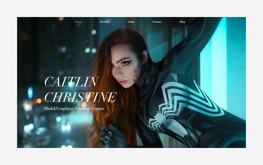 Ejemplo de Portafolio digital de Caitlin Christine