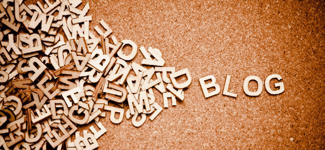 Palabra Blog En un Tablero