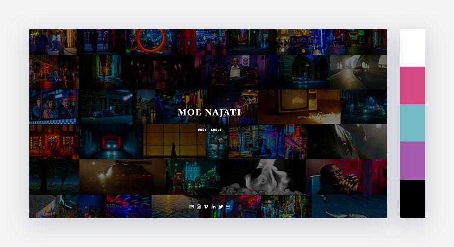 50 paletas de cores para o seu site: escuro e misterioso