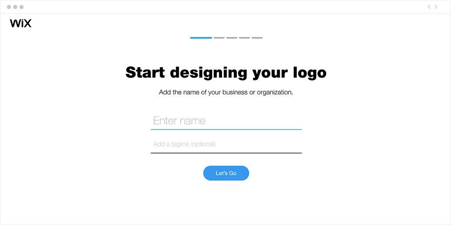 윅스의 디자인 로고 만들기 첫 화면