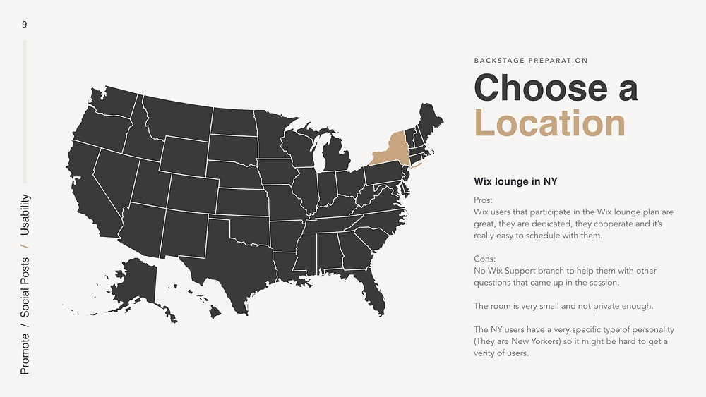 Choosing a location for a usability test in UX design
