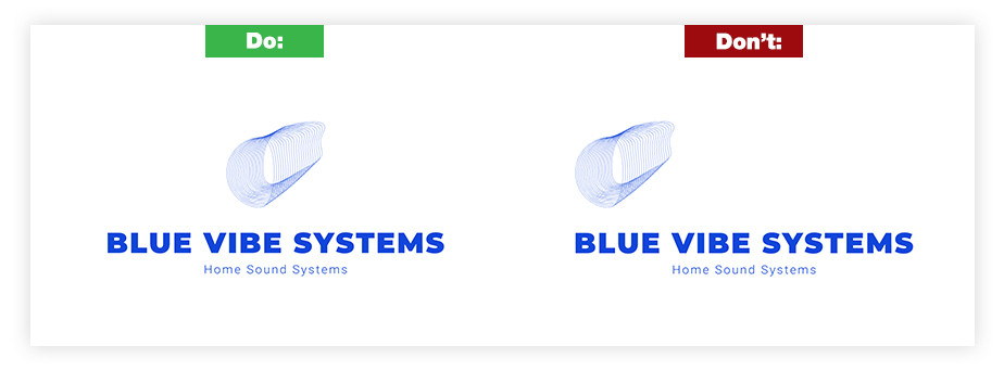 ロゴデザイン 文字列のバランス