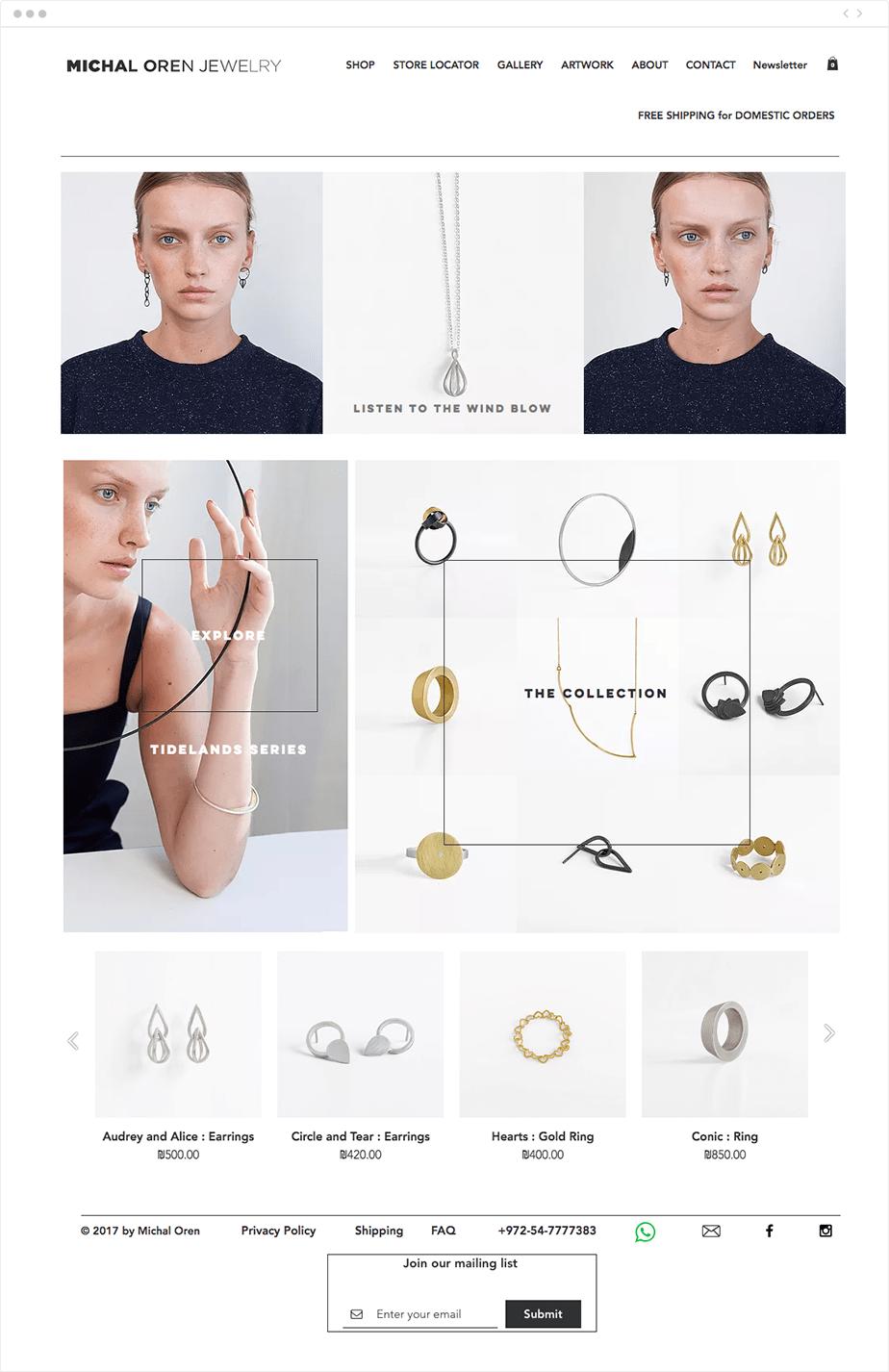 Site internet de Michal Oren Bijouterie
