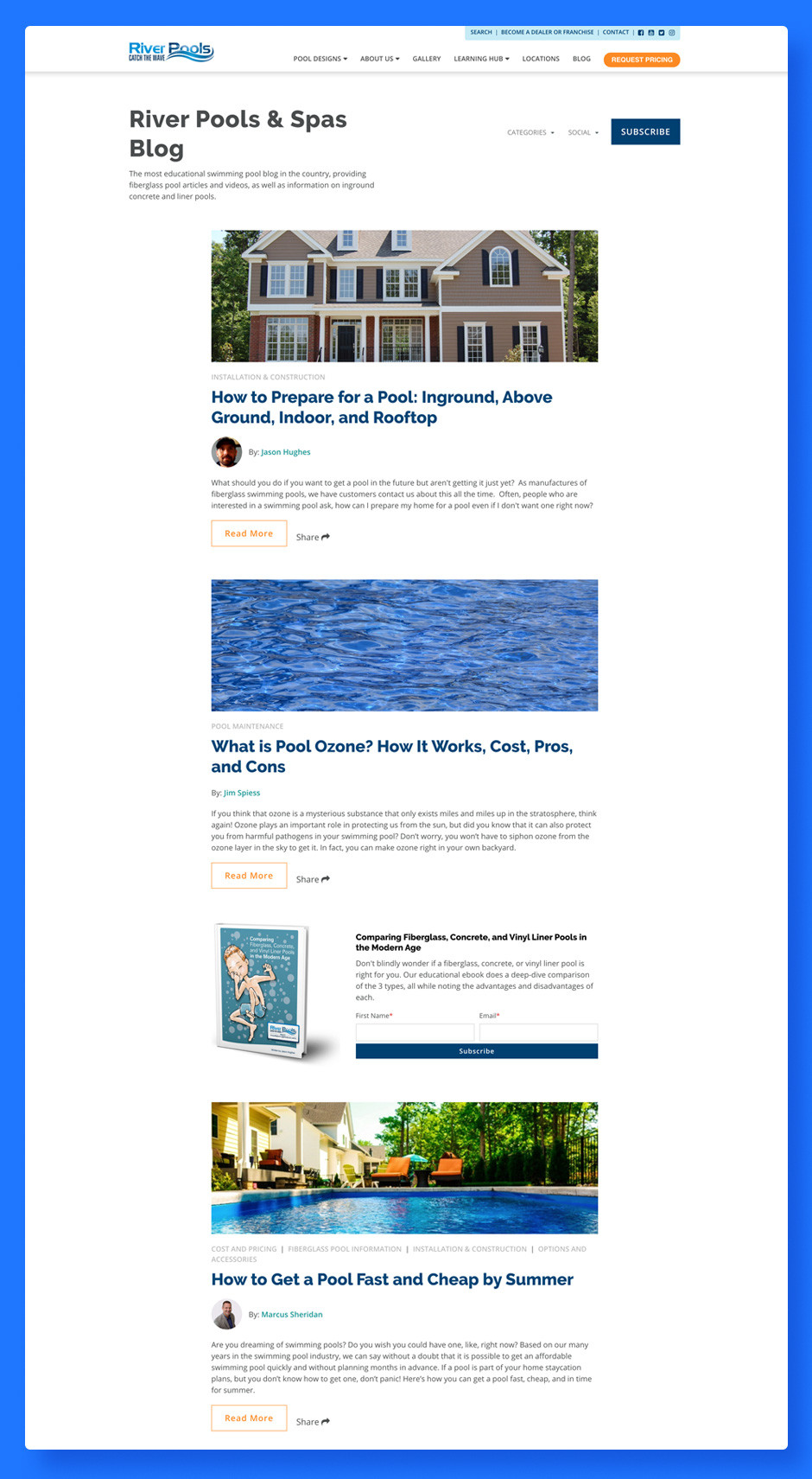 Czym jest content marketing: River Pools and Spas