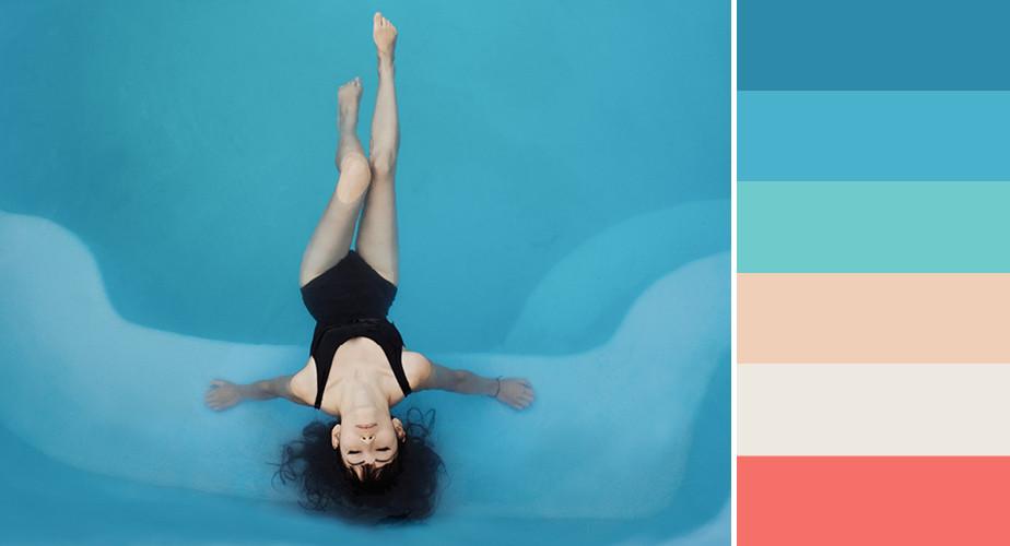 Paleta de cores que remetem ao ramo da saúde e bem estar