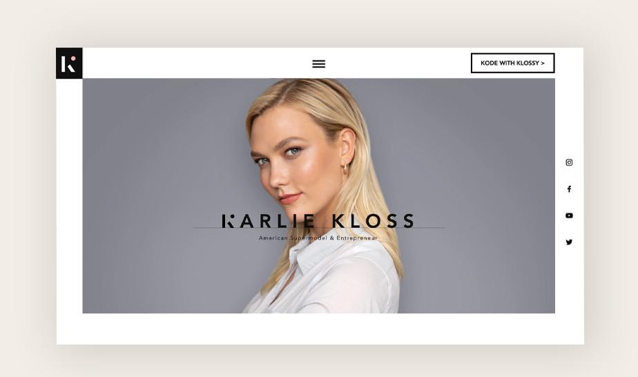 윅스로 만든 칼리 클로스 모델링 웹사이트