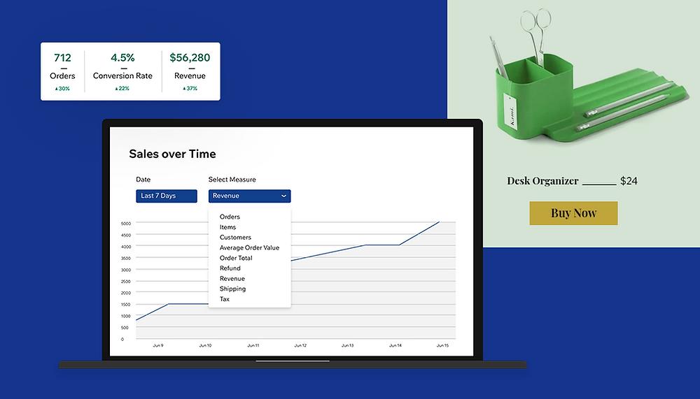 grafici e dati sull'aumento delle vendite online