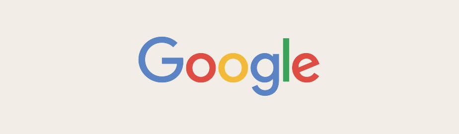 Google Logo als Beispiel für ein modernes Logo