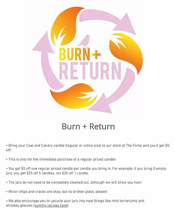 Usługa Bur i Return firmy Coal and Canary z wymienionymi zasadami