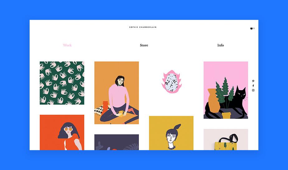 Шаблоны сайта портфолио для творческих профессий: сайт портфолио для графического дизайнера