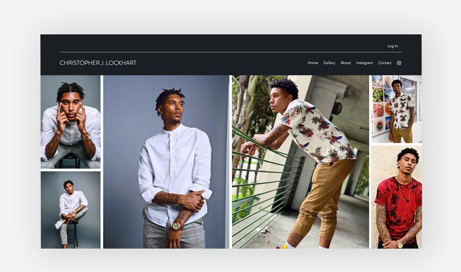 윅스로 만든 크리스토퍼 록하트의 모델링 웹사이트
