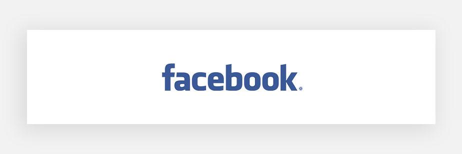 Примеры известных логотипов: Facebook