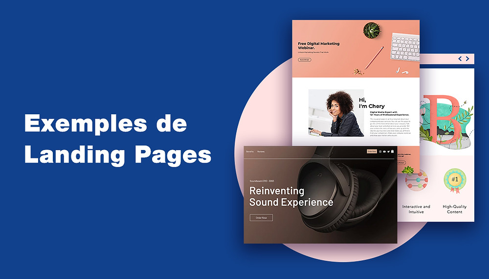 Exemples landing pages