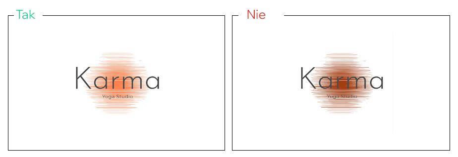 W projekcie logo zastosuj kontrastowe tło