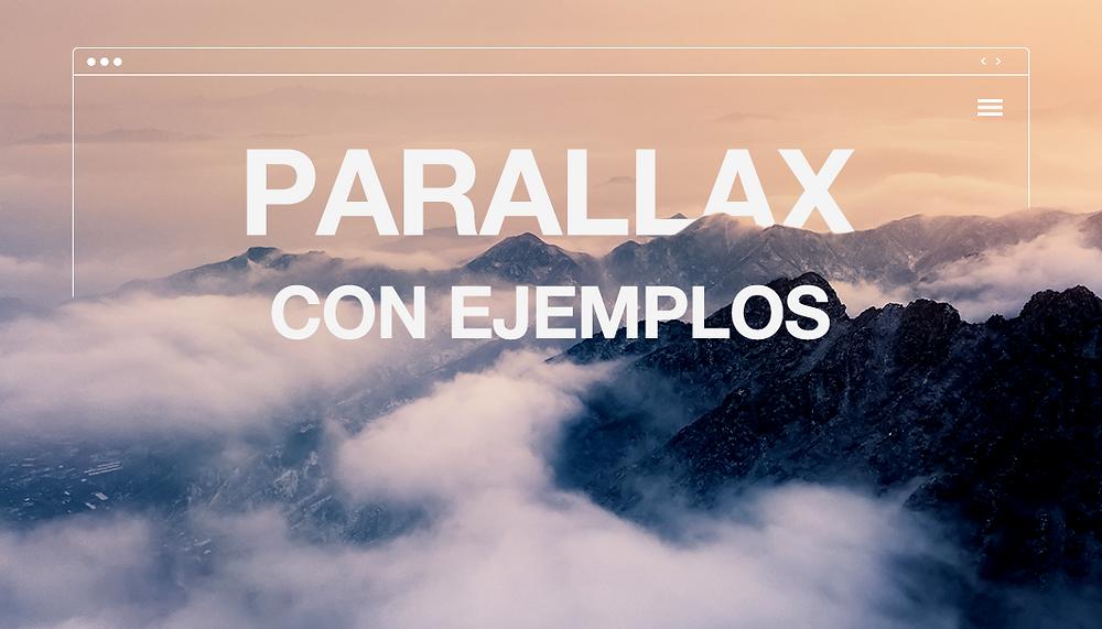 Ejemplos de páginas web con efecto parallax