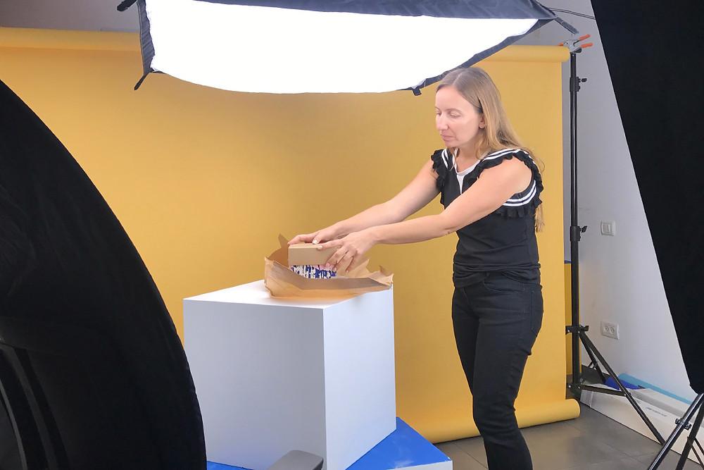 Product photography photoshoot