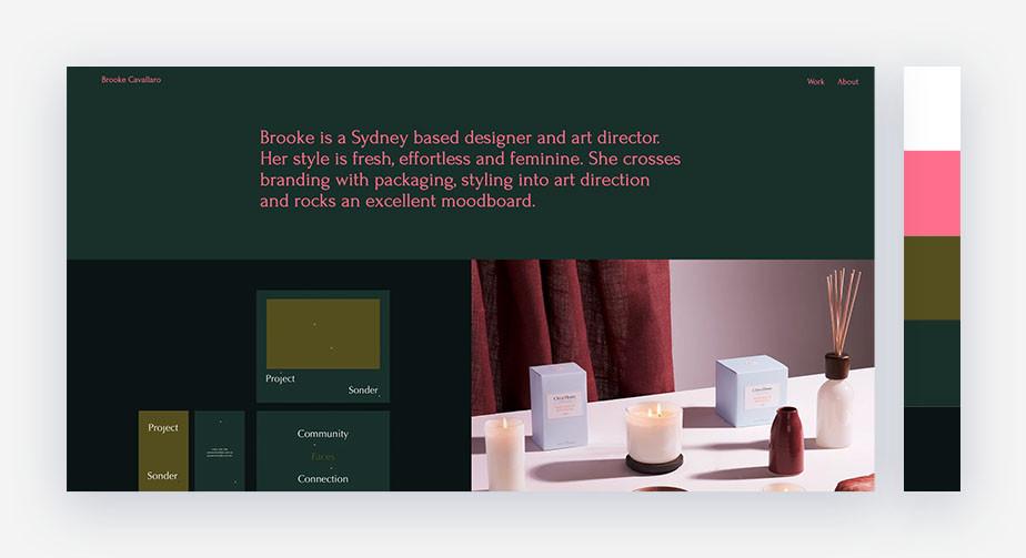 50 paletas de cores para o seu site: tons ricos + rosa encantador