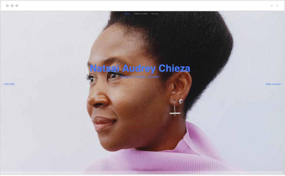 Sito personale di  Natsai Audrey Chieza