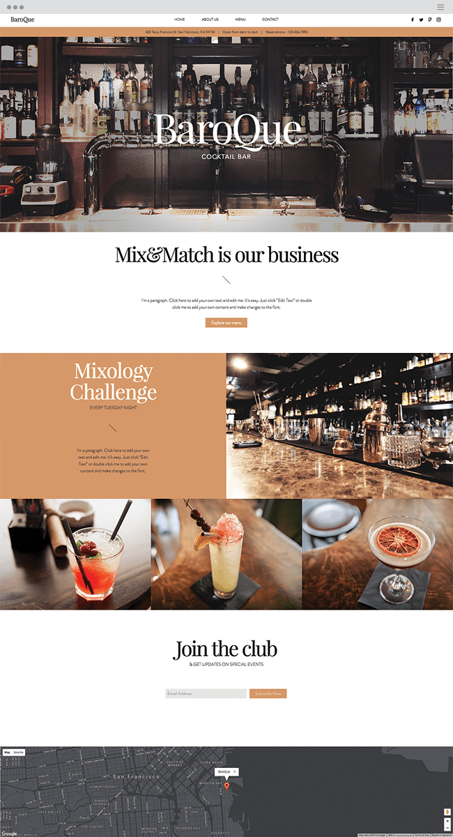 Cocktail Bar Template
