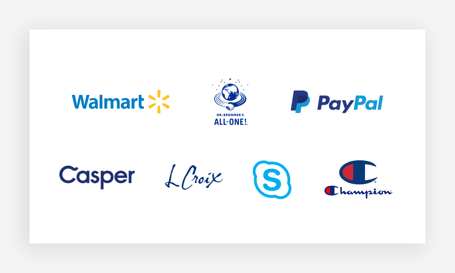 kolory logo – kolekcja znanych niebieskich logo