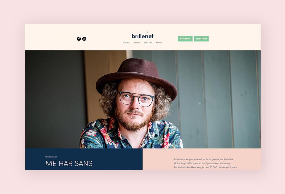 Screenshoot einer Website als Beispiel für Webdesign mit Pastellfarben