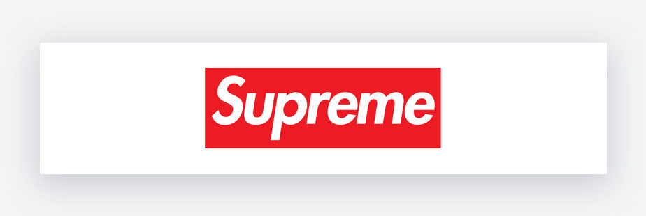 Logo supreme rosso