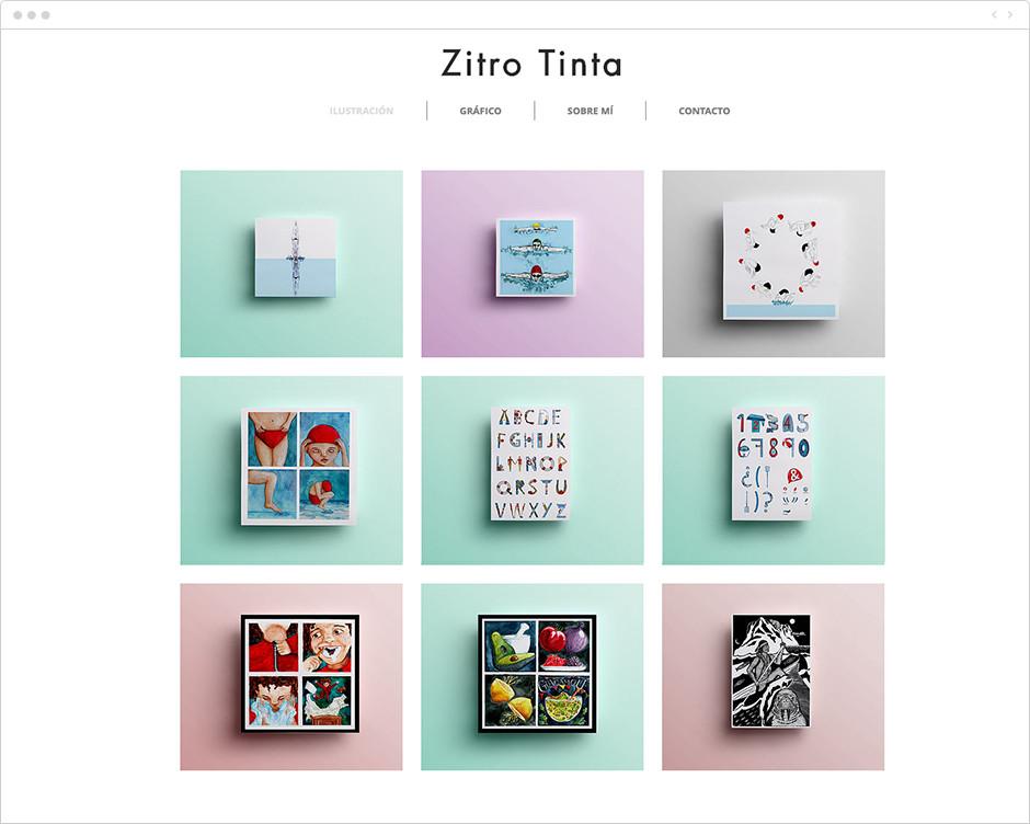 Página web de Zitro Tinta