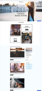 fashion and style blog template