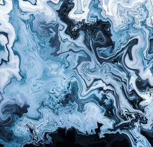 macro shot of blue ice patterns