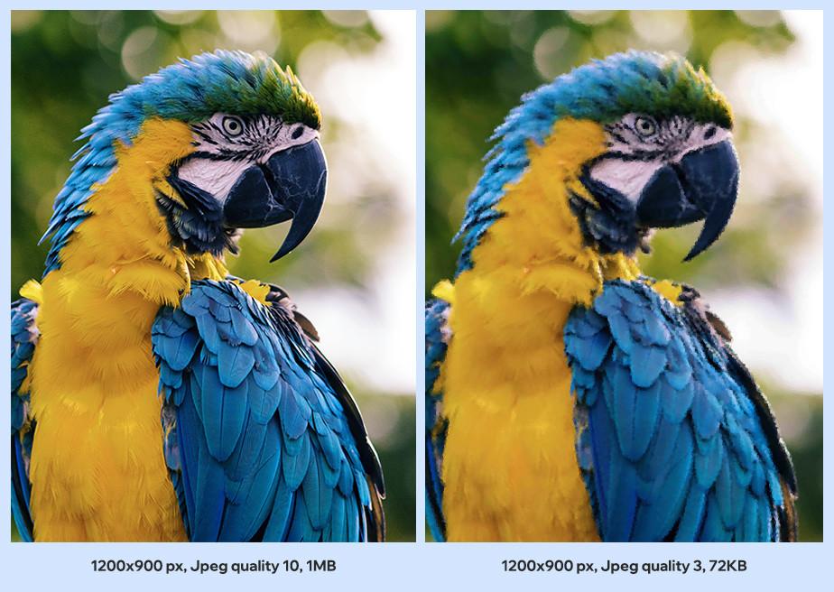 Przykład optymalizacji obrazu poprzez kompresję JPEG