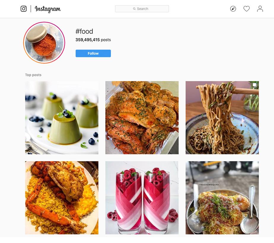 Fotografia żywności - hashtag Instagram