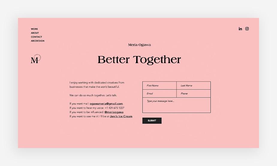Het beste website voorbeeld van Meria Ogawa