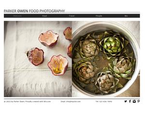 Food Photography Template de Site - WIX