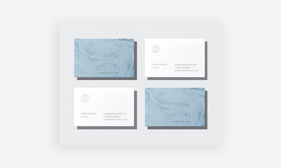 wzory wizytówek – wizytówki firmy projektującej wnętrza