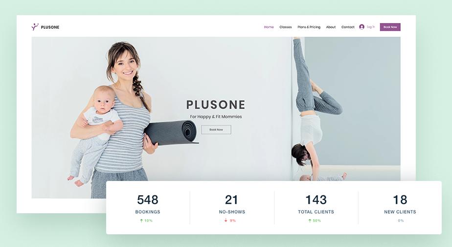 Screenshot der Website eines Fitnessstudios als Beispiel für Websites von Dienstleistungsunternehmen