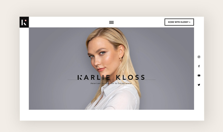 Portfolio modelki Karlie Kloss