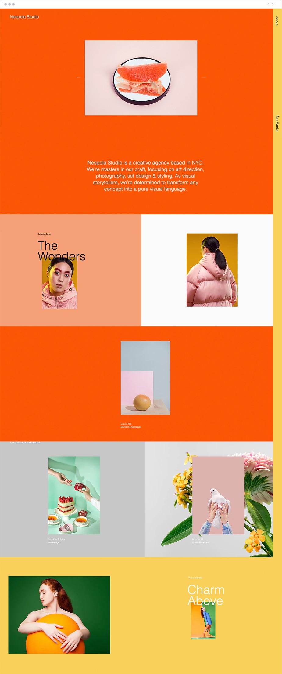 Template de site pour une agence créative
