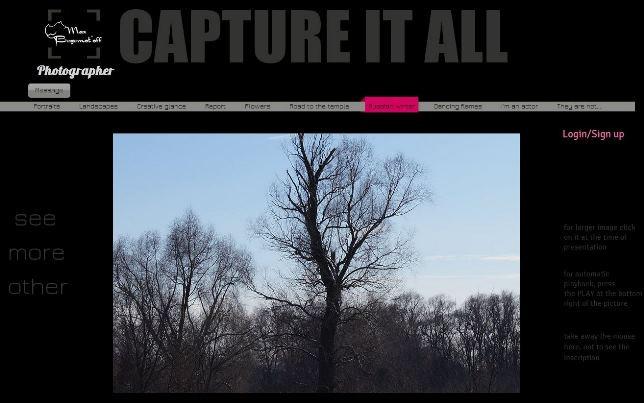 Фото-портфолио, созданное с Wix