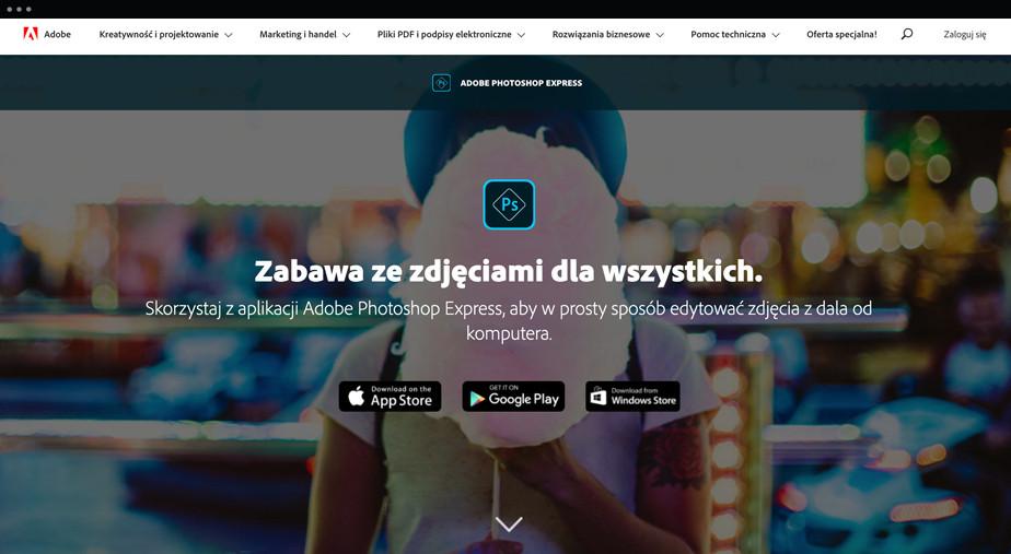 Darmowy edytor Adobe Photoshop online