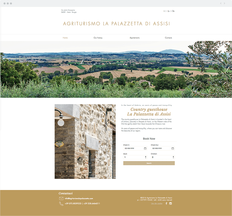 Wix Site: Agriturismo La Palazzetta