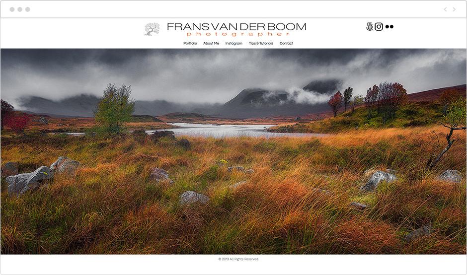風景写真家サイト Frans van der Boom