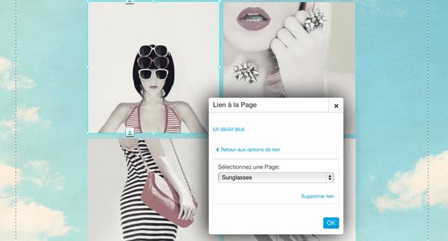 Tutoriel Wix : ajouter des effets sur vos images. Etape 4