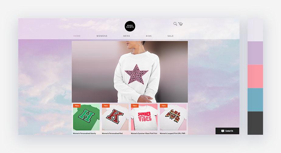 50 paletas de cores para o seu site: tons de um pôr do sol dos sonhos