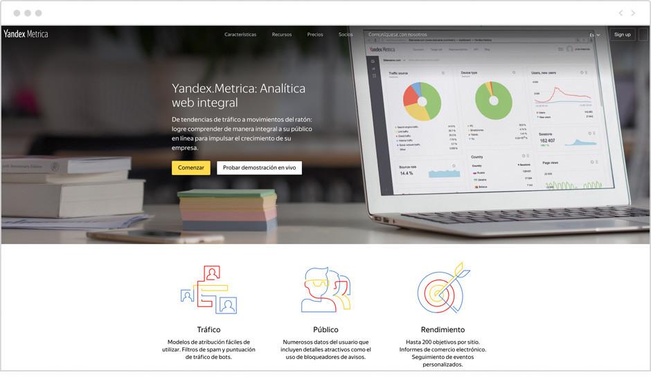 Web de Yandex