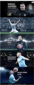 Site officiel de Sergio Aguero par Wix