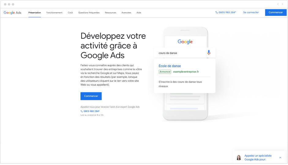 Google Ads - Outil marketing - Wix