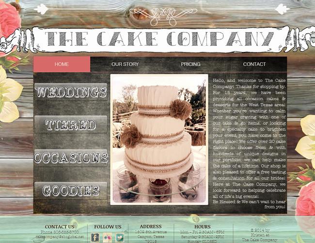 Сайт кондитерской The Cake Company