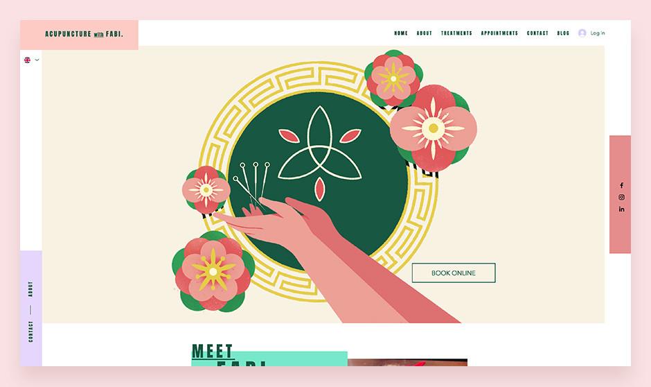 web sitesi örnekleri: Acupuncture with Fabi
