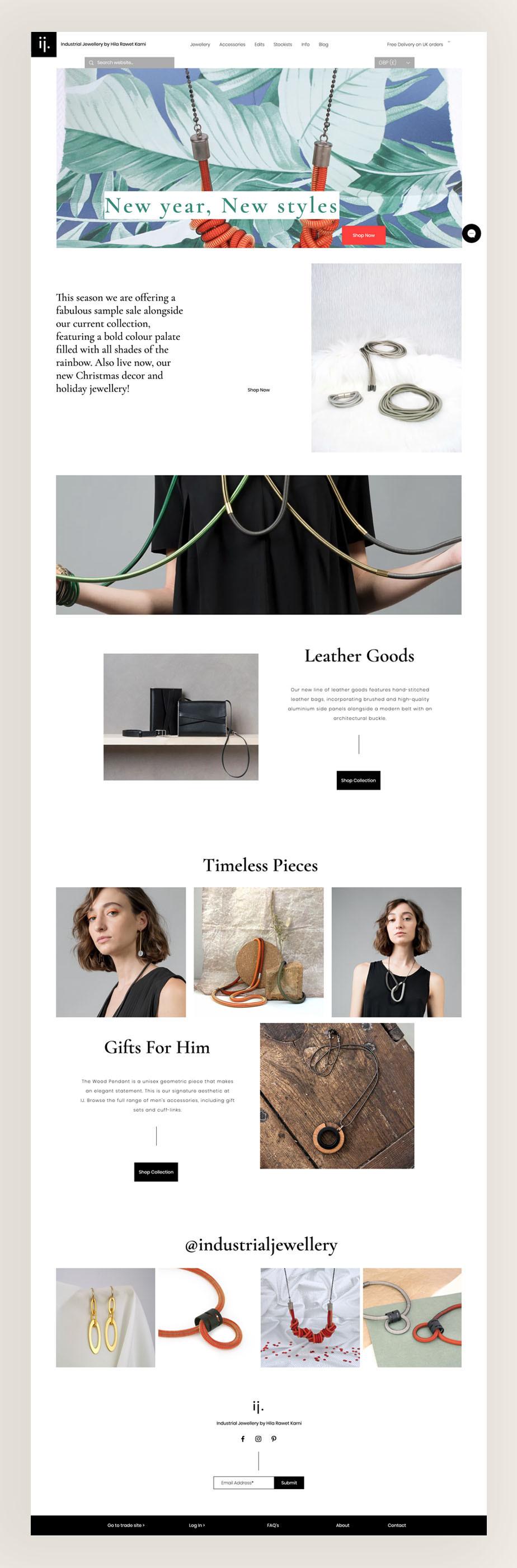 Hila Rawet Karni juwelier eCommerce Wix website voorbeeld